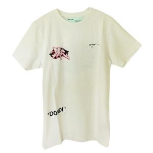 オフホワイト Tシャツ 半袖 メンズ OFF WHITE コットン ホワイトマルチ OMAA027R19185005 0288|1pia