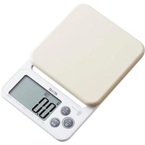 タニタ クッキングスケール キッチン はかり 料理 シリコンカバー付き デジタル 2kg 0.1g単位 ホワイト KJ-212 WH カバーが洗えるの商品画像|ナビ