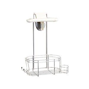 Belca (ベルカ) ステンレスシャワーラック 1段 FH-317 シャンプーラック お風呂 バス用品 浴室収納 シャワーヘッドラック 整理棚 バスラック 収納の商品画像|ナビ
