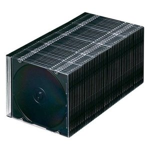 サンワサプライ Blu-rayDVDCDケース (スリムタイプ50枚セットマットブラック) FCD-PU50MBKNの商品画像 ナビ