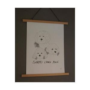 [モノクロスタイル] 愛犬のイラストを描きます!! フロム スウェーデン