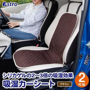 在庫限り アストロ カーシート 2枚組 ブラウン メッシュ生地×不織布 吸湿 ドライ 車 座席シート 607-28 1storage