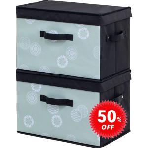 在庫限り アストロ 収納ボックス 2個組 和モダン柄  丈夫 カラーボックス対応 積み重ね可能 613-29 1storage