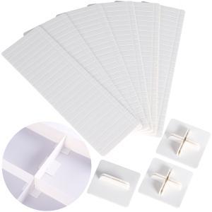 アストロ 仕切り板 6枚組 約24.5×8×0.2cm ホワイト 引き出し 小物 文房具 仕切り 固定板付き カット可能 711-18 1storage