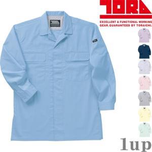 寅壱 作業服 作業着 1011-186 ミニ衿オープンシャツ 綿100% 「M-LL」(鳶衣料 春夏用)|1up