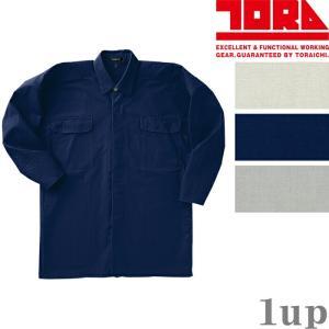 寅壱 作業服 作業着 1016-301 トビシャツ 綿100% 「M-LL」(鳶衣料 春夏用)|1up