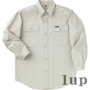 寅壱 作業服 作業着 1016-609 アーミーシャツ 綿100% 「4L」(春夏用)|1up