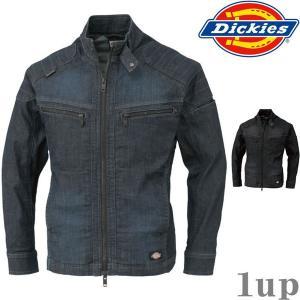 Dickies 作業服 作業着 D-1430 ストレッチデニムジャケット 「M-5L」(年間)|1up