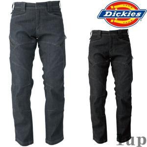 Dickies 作業服 作業着 D-1435 ストレッチデニムカーゴパンツ 「M-5L」(年間)|1up