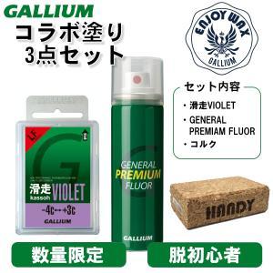 ガリウム GALLIUM コラボ塗り3点セット 滑走VIOLET GENERAL PREMIAM F...