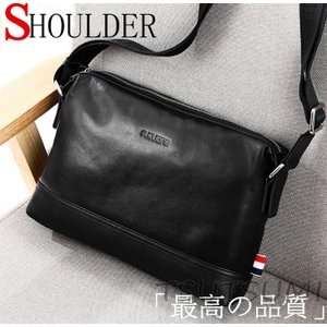 バッグ  ショルダーバッグメンズバッグ メンズショルダー 牛革バッグ 柔らかい素材 斜めがけ レザーバッグ 軽量 iPad対応の画像