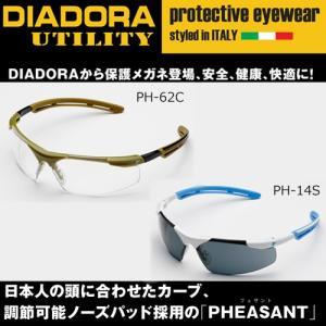(日本人の頭に合わせたカーブ) ディアドラ保護メガネ 「PHESANT(フェザント)」  ・ノーズパ...