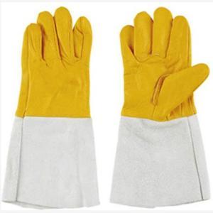 【120APN溶接用手袋】  仕様:掌部/牛本革、袖部/牛床革、5本指  標準長さ:35cm  包装...