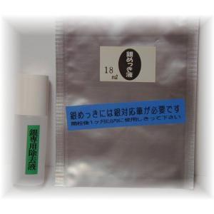 銀めっき液 (18ml)DIY簡単メッキ めっき工房 補充品 MU-151|24kogyo