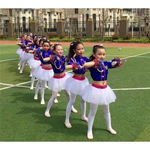 ダンスウェア キッズ ダンス衣装 発表会 子供 ジャズ ダンス セットアップ 女の子 スパンコール 演出 ジュニア ガールズ チアガール 応援団|24store