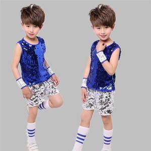 ダンスウェア キッズ ダンス衣装 子供 セットアップ 男の子 スパンコール ダンス 演出 ジュニア ガールズ チアガール 応援団|24store