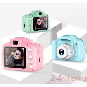 子供用 カメラ ミニ デジタルカメラ キッズカメラ 32GB SDカード 連続写真 お祝い 誕生日 ...