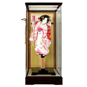 羽子板 初正月 ケース飾り 花飾り 押絵羽子板 fz-102-1518p-18|2508-honpo