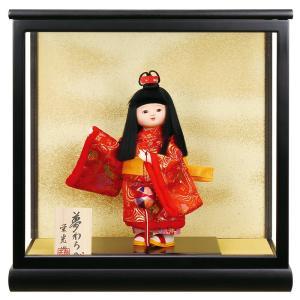 雛人形 ひな人形 雛 ケース飾り 市松人形 童人形 栄光作 夢わらべ 木製7号 h313-fz-3380-34-002 2508-honpo
