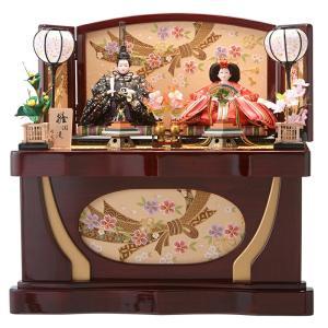 ひな人形 雛人形 親王飾り 収納飾り コンパクト 雛爛漫 h283-fzcp-46st-1183hp|2508-honpo