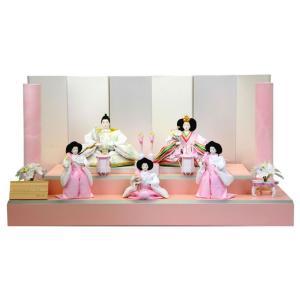 ひな人形 雛人形 五人飾り 段飾り goto-ohana-b|2508-honpo