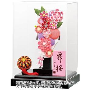羽子板 ケース飾り 花づくし(ピンク)羽子板 アクリルケース舞桜 黒 7号 h031-mm-009|2508-honpo