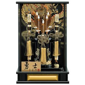 破魔弓 ケース飾り パノラマ 勇士 金 12号 アクリルケース h031-mm-076 2508-honpo