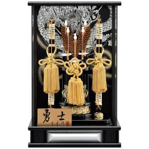 破魔弓 ケース飾り パノラマ 勇士 銀 12号 アクリルケース h031-mm-077 2508-honpo