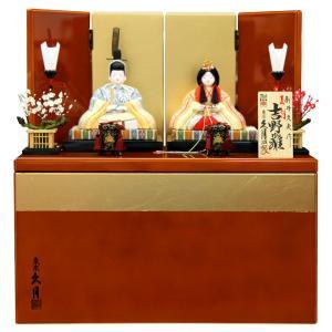 雛人形 久月 ひな人形 雛 木目込人形飾り コンパクト収納飾り 親王飾り 新井久夫作 吉野雛 正絹 伝統的工芸品 h033-k-62000 D-73 2508-honpo