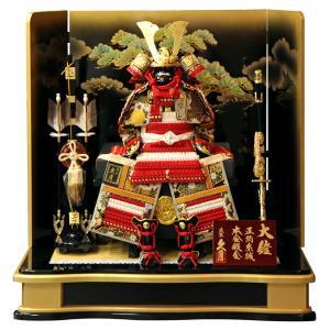 五月人形 久月 鎧平飾り 鎧飾り 高床飾り 正絹紅糸中白縅 7号大鎧 松金彩屏風 h035-k-29001 2508-honpo