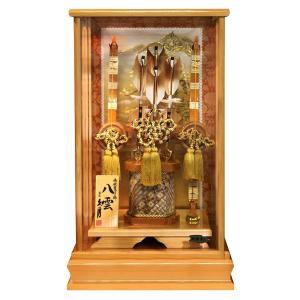 破魔弓 久月 ケース飾り 八雲 寄木細工 本籐 16号 総檜面取ケース h031-k-yakumo16 2508-honpo