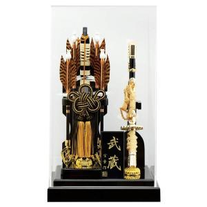 破魔弓 ケース飾り 武蔵 8号 アクリルケース h031-mm-069 2508-honpo