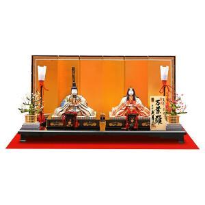 雛人形 久月 ひな人形 雛 木目込人形飾り 平飾り 親王飾り 真多呂作 万葉雛 正絹 帯地 伝統的工芸品 h033-k-95618-6ak K-40 2508-honpo