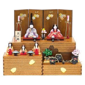 雛人形 真多呂 ひな人形 雛 木目込人形飾り コンパクト収納飾り 五人飾り 真多呂作 古今人形 東山雛B h033-mt-1379 2508-honpo