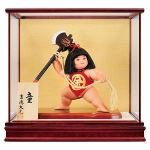 五月人形 吉徳 金太郎 浮世人形 ケース飾り 8号 童 まさかり h315-ys-503257|2508-honpo