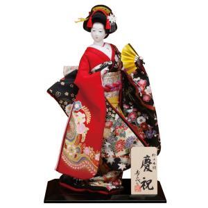 日本人形 尾山人形 人形単品 寿喜代作 極上本頭 慶祝 正絹 片袖金彩 8号 sk-gokujo742|2508-honpo
