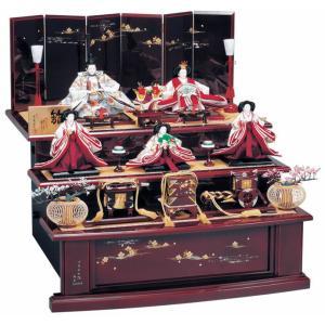 雛人形 ひな人形 平安豊久 三段飾り 五人飾り 宵桜 h243-mo-303474|2508-honpo