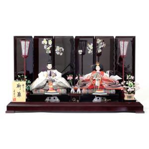 ひな人形 雛人形 親王飾り 平飾り h233-sb-sakura27a|2508-honpo