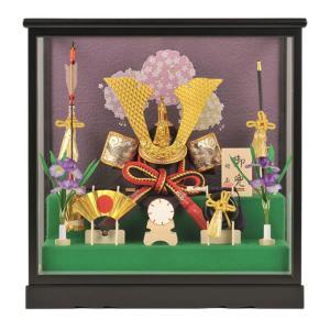 五月人形 兜飾り ケース飾り 靖玉作 御兜 h235-fz-5-09806|2508-honpo