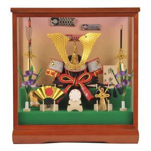 五月人形 兜飾り ケース飾り 靖玉作 御兜 h235-fz-5-09808|2508-honpo