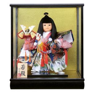 五月人形 武者人形 ケース飾り 栄光作 若殿 7号 h305...