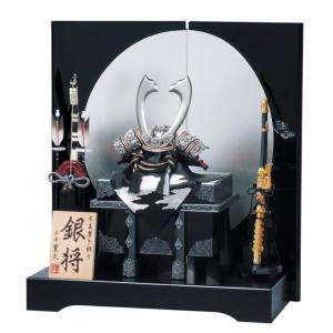 五月人形 平安豊久 兜飾り 銀将 12号 h235-mo-502621|2508-honpo