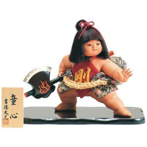 五月人形 吉徳 金太郎 浮世人形 ケース飾り 10号 童心 h305-ys-503252|2508-honpo