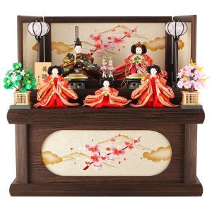 【2019年度新作雛人形】 風合い豊かな焼桐の台屏風が目を惹く収納飾りのご紹介です。 焼桐材は手垢な...