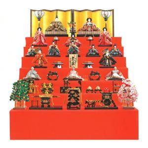 雛人形 久月 ひな人形 七段飾り 十五人飾り 平安雛幸作 京雛 正絹帯地 六番親王 八寸揃 h293-k-k7517 K-13 2508-honpo