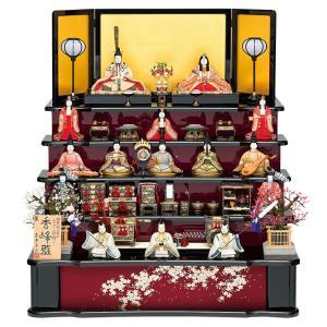 雛人形 真多呂 ひな人形 雛 木目込人形飾り 五段飾り 十五人飾り 真多呂作 古今段飾り 秀峰雛 正絹 伝統的工芸品 h313-mt-1306|2508-honpo