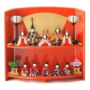 ひな人形 真多呂 雛人形 段飾り 十人飾り 木目込み人形|2508-honpo