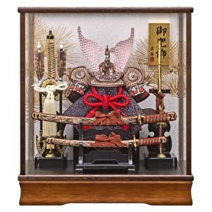 五月人形 兜ケース飾り 兜飾り 藤翁作 松葉 オルゴール付 h295-fn-165-716|2508-honpo