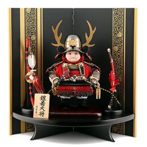 五月人形 子供大将飾り 武者人形飾り 平飾り 清雲斉作 鎧着大将 h245-fz-62-341-v|2508-honpo