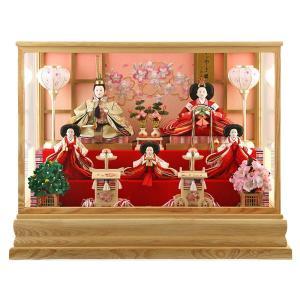 雛人形 ひな人形 雛 ケース飾り 五人飾り 藤翁作 麗華 三五芥子五人 極上刺繍仕立 スワロフスキー h313-fn-173-529 2508-honpo